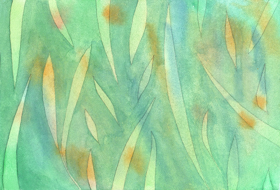 watercolor-grass-pattern-step-two